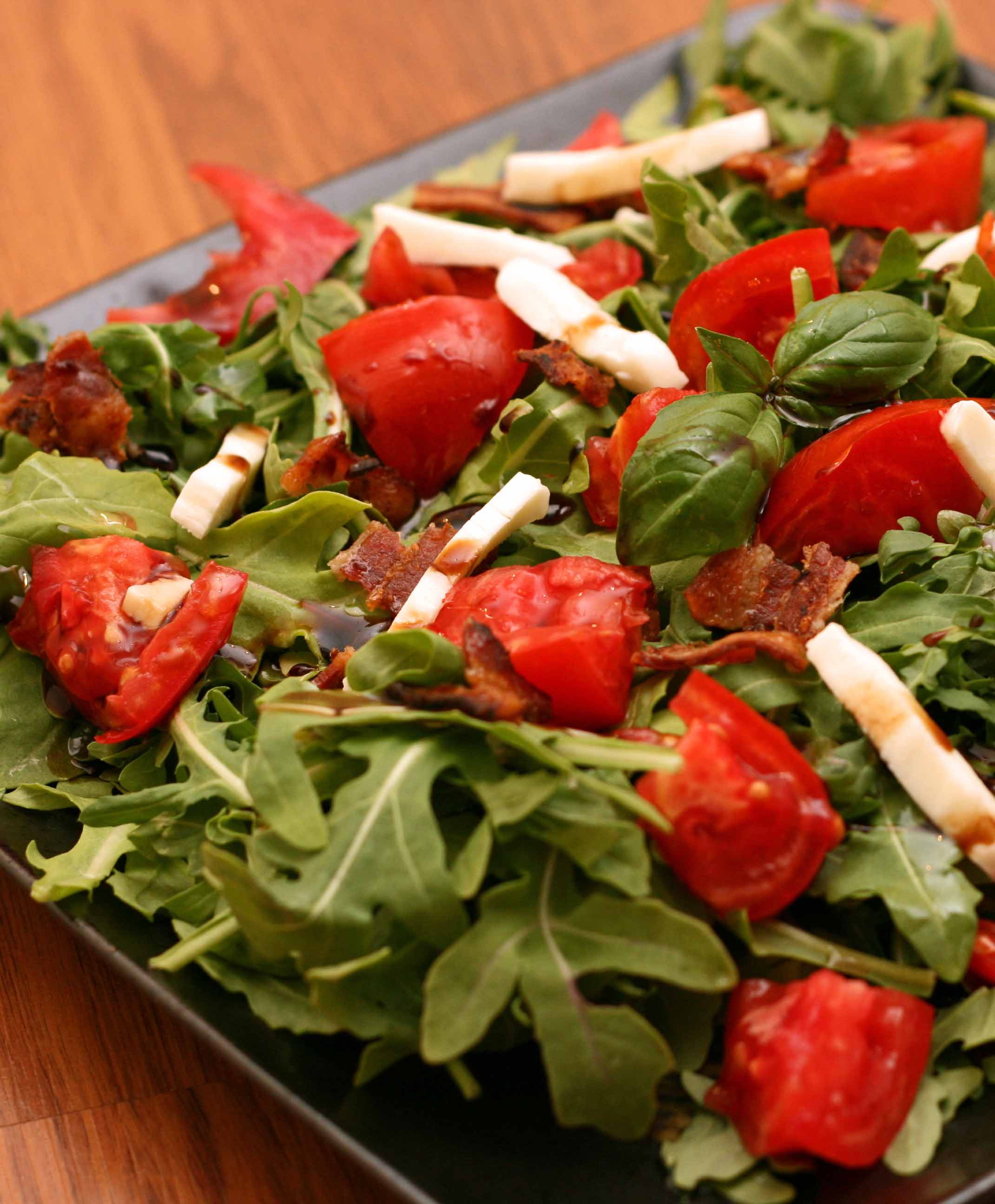 Mozzarella and Tomatoes – Post #2 – Arugula Caprese Salad with ...