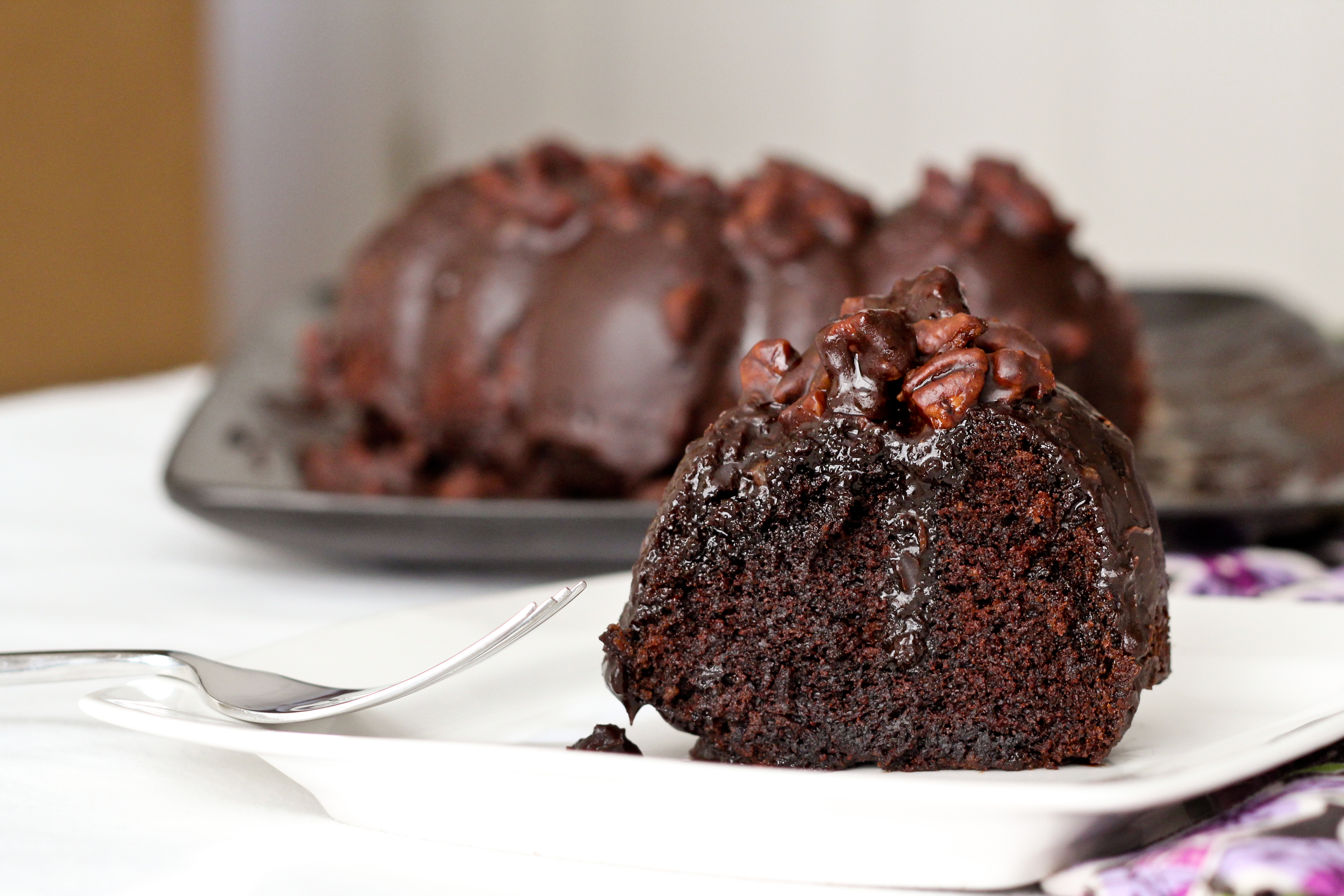 Mexican Chocolate Cake With Fudge Icing
